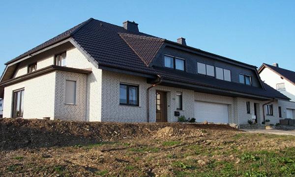 Doppelhaus in Breckerfeld </br>KS Verblender - Weiss - Bossiert